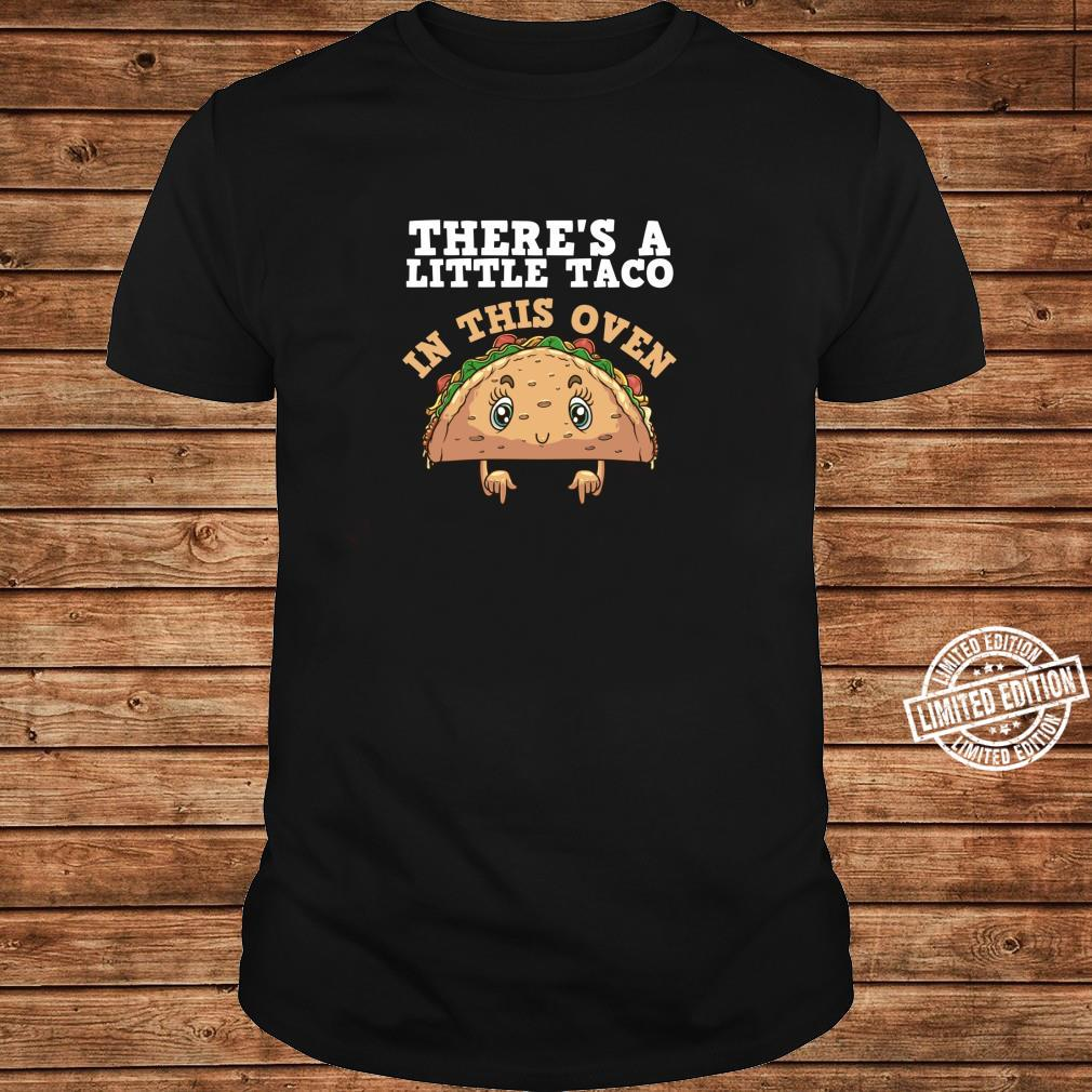 Funny Taco Pregnancy Announcement Cool Mexican Food Pun Shirt long sleeved