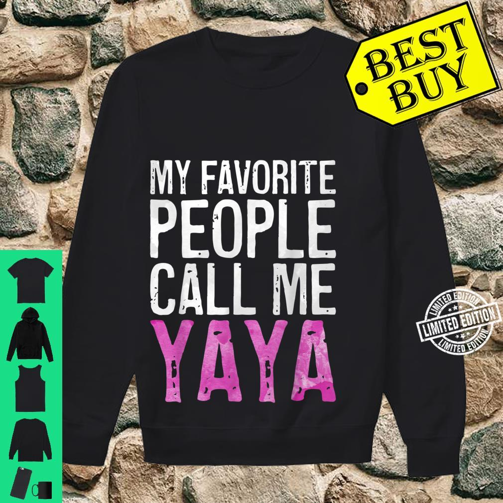 My Favorite People Call Me Yaya Mother's Day Shirt sweater
