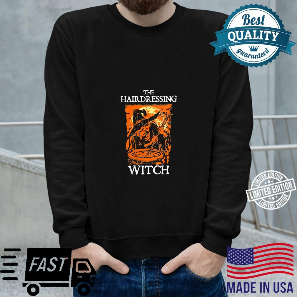 The Hairdressing Witch Halloween Hairdresser Scary Shirt long sleeved