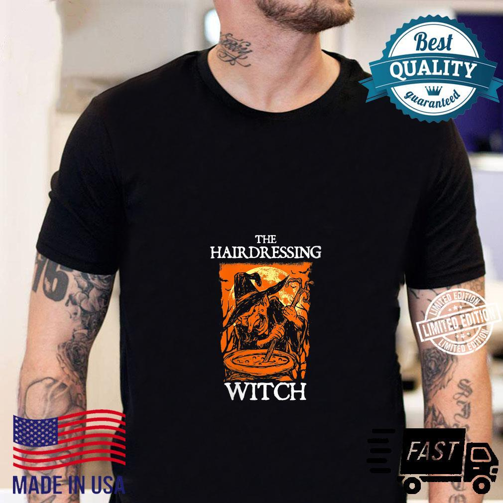 The Hairdressing Witch Halloween Hairdresser Scary Shirt sweater