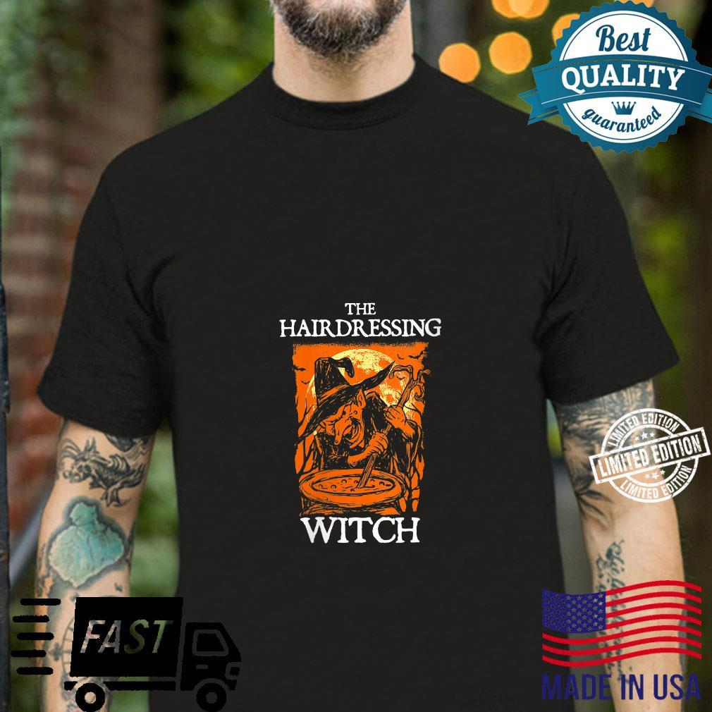 The Hairdressing Witch Halloween Hairdresser Scary Shirt