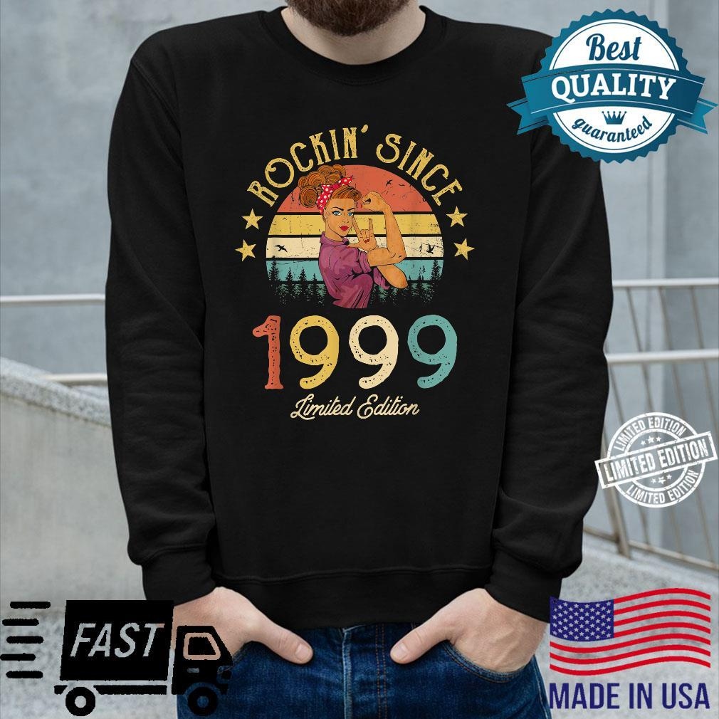 Vintage 1999 Rockin Since 22nd Birthday 22 Years Old Shirt long sleeved
